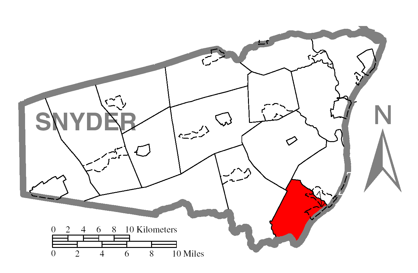 File Map Of Snyder County Pennsylvania Highlighting Chapman Township