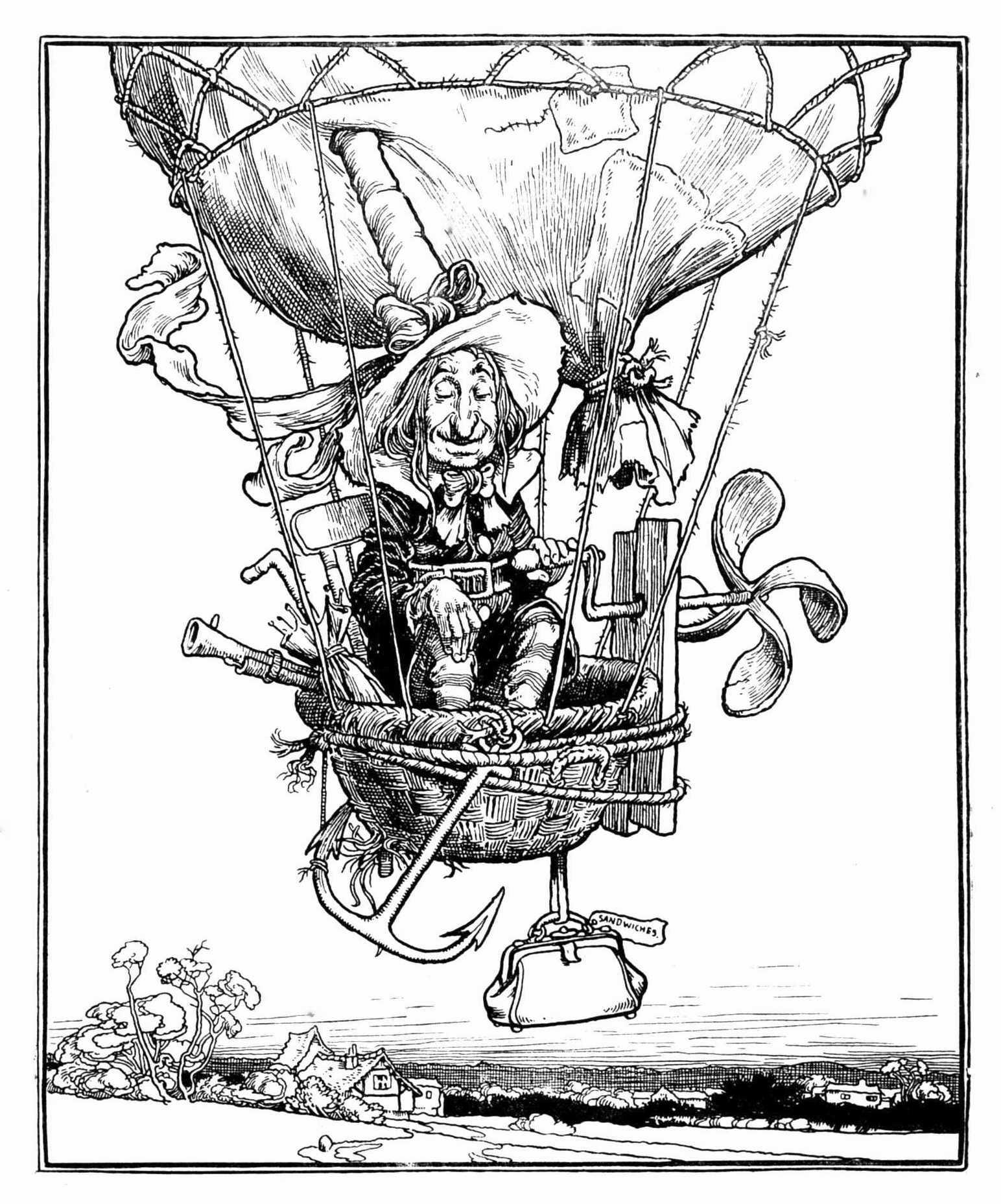 The Adventures of Uncle Lubin, 1902, W. Heath Robinson
