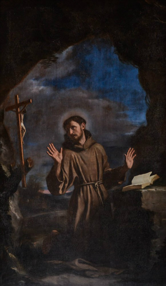 San Francesco in adorazione del crocifisso  Wikipedia