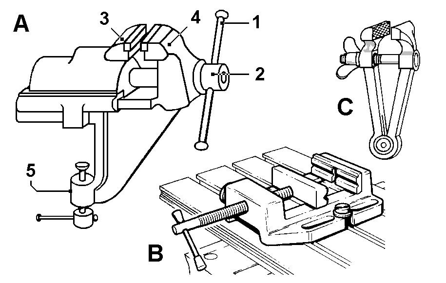 Machine Vice Assembly Drawing With Dimensions