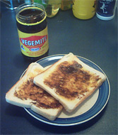 Vegemite on toast. I have a larger version. I ...
