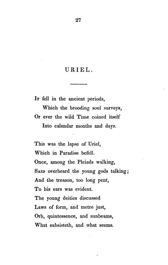 Uriel Poem Wikipedia