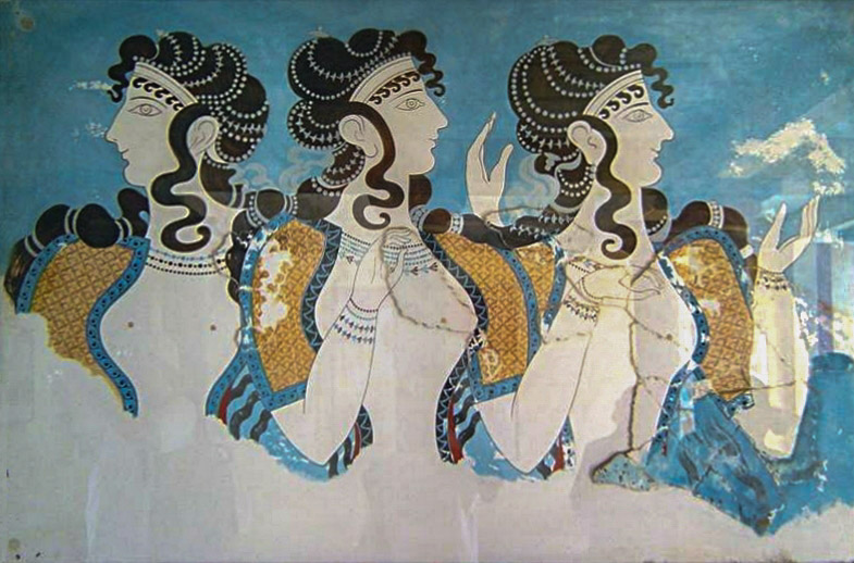 Fresco from Knossos palace