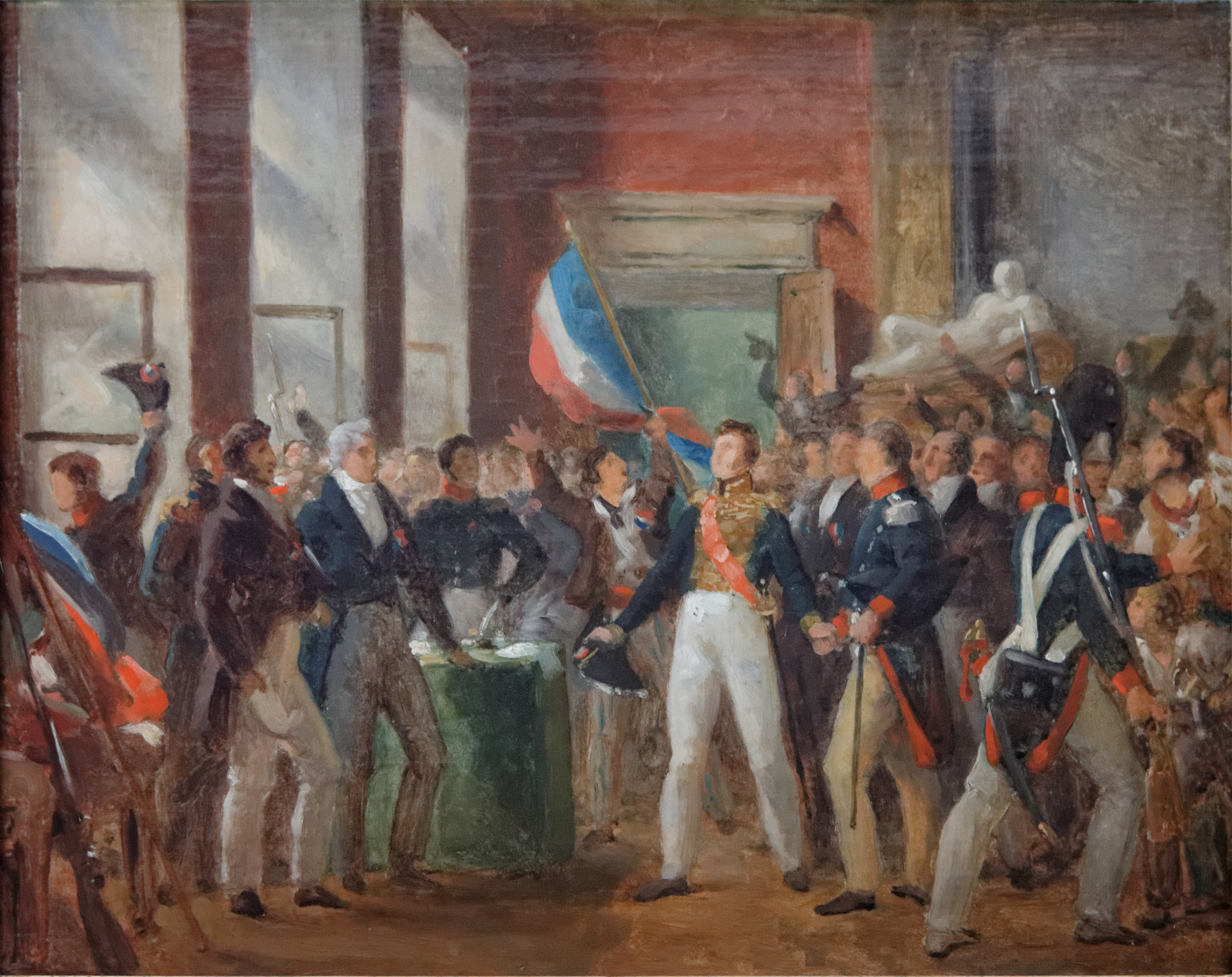 FileLe Duc dOrlans  lhtel de ville le 31 juillet 1830 Carnavalet P 106 02jpg