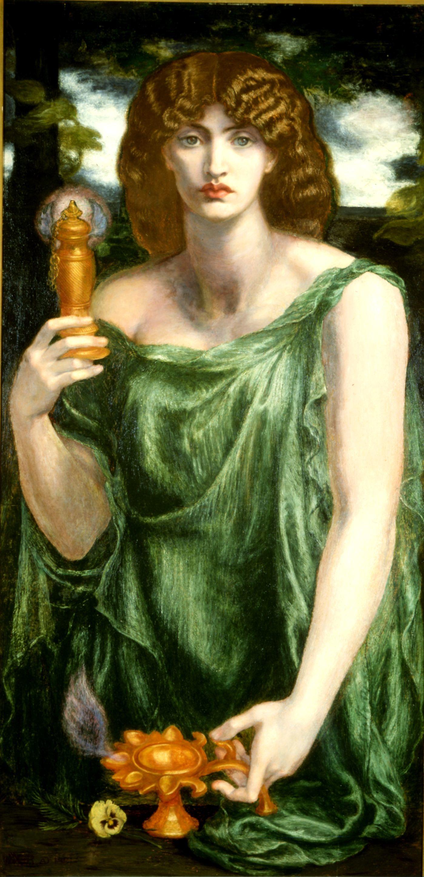 Mnemosyne (1881), a pre-Raphaelite interpretat...
