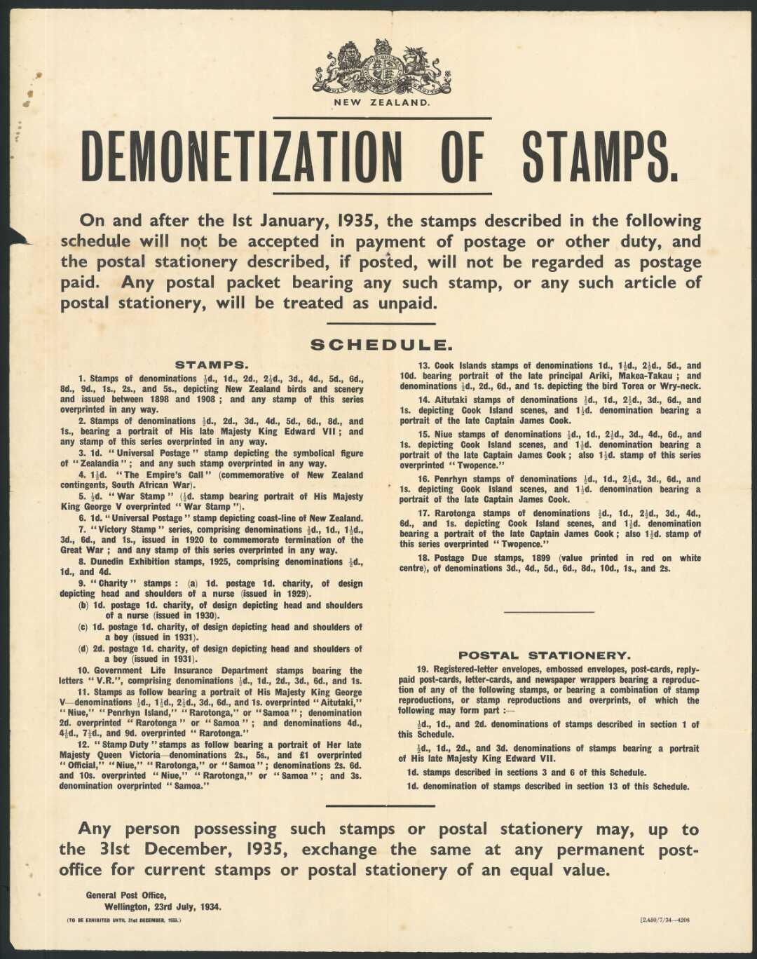 Postage stamp demonetization  Wikipedia