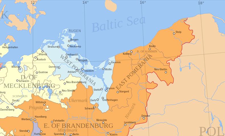 Pomerania in 1653