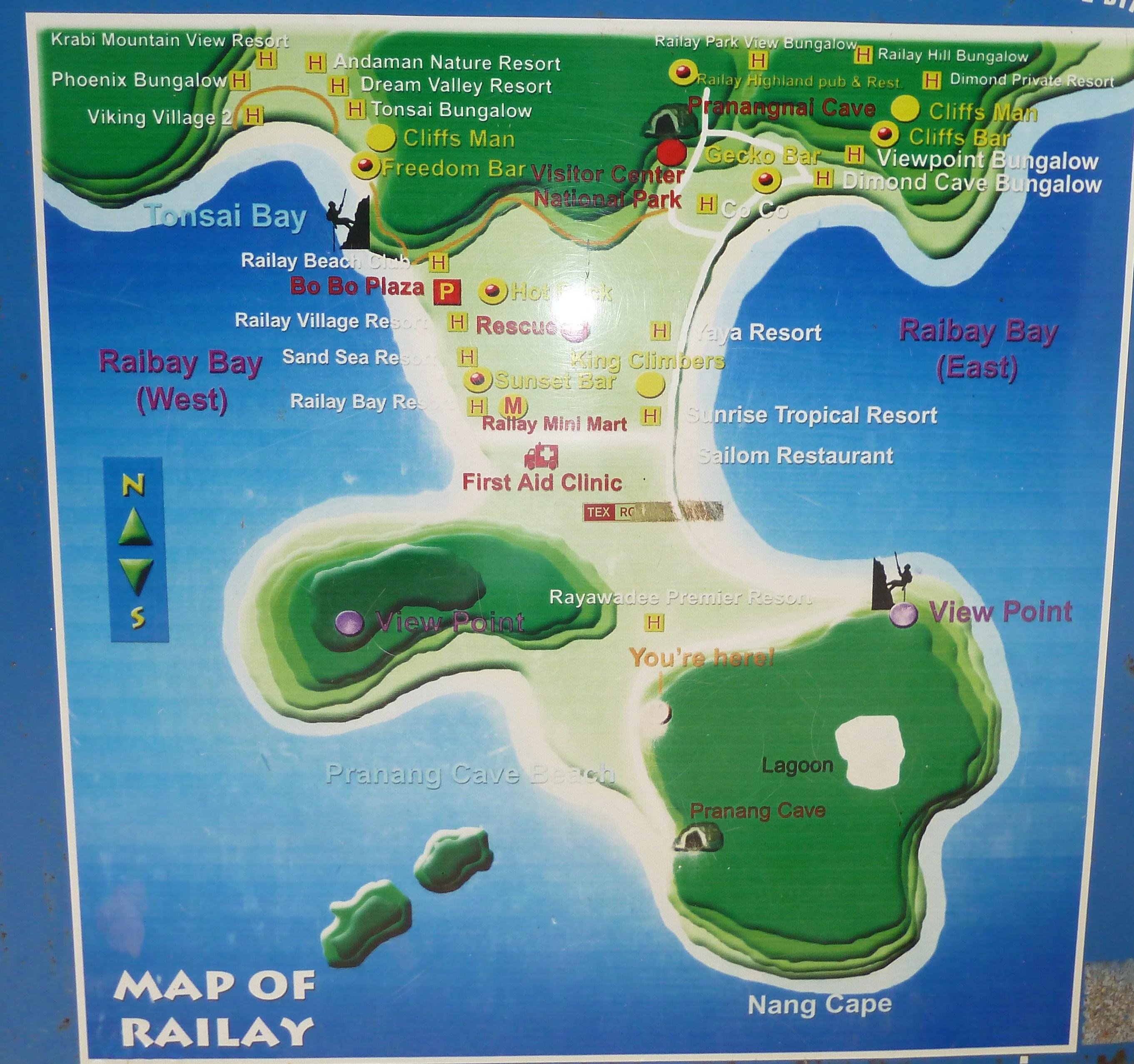Dove andare al mare in Thailandia Railay beach