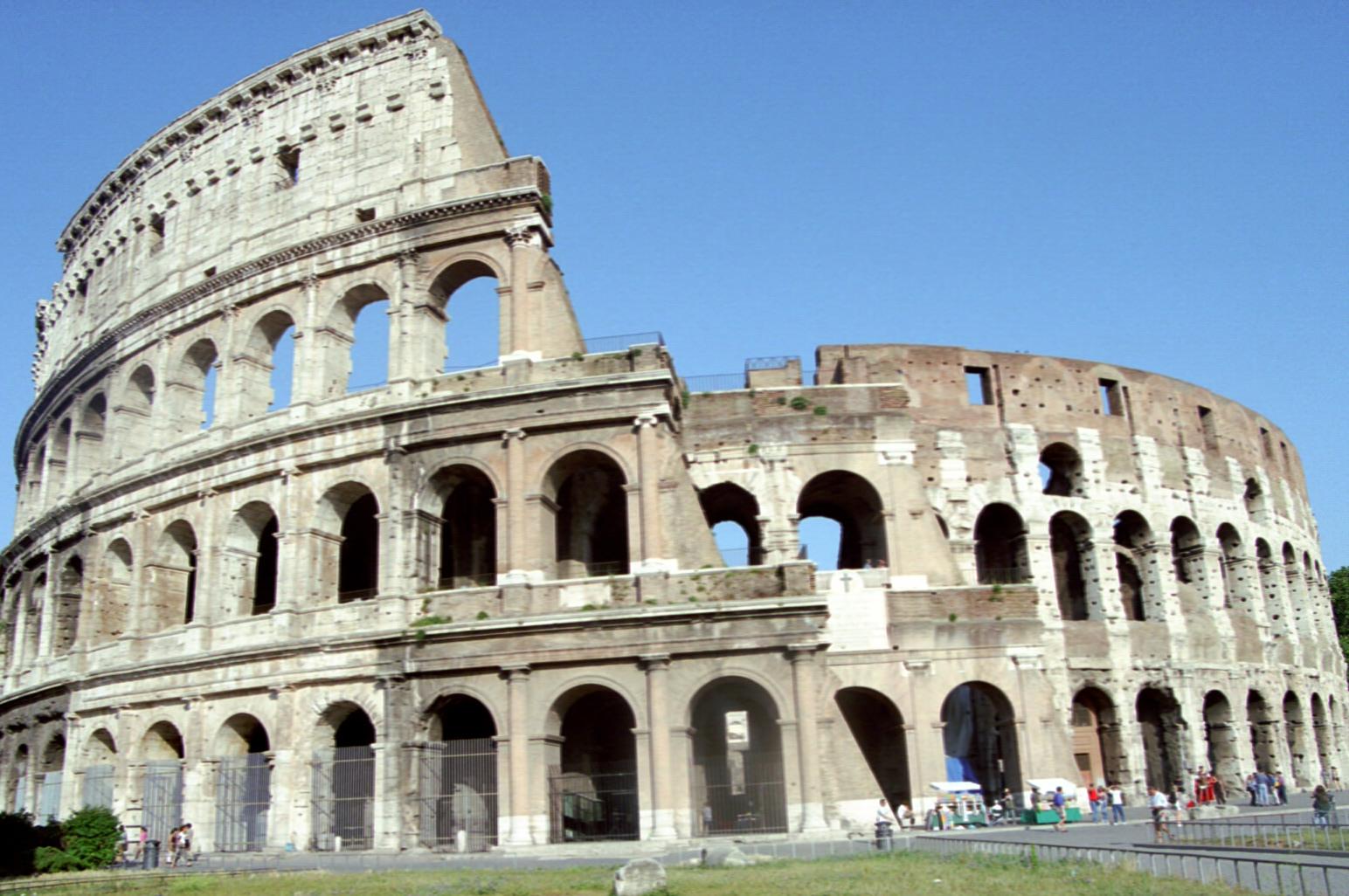 Colosseum of Rome.