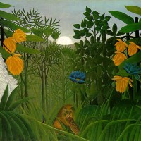 """The Repast of the Lion"" by Henri Rousseau"