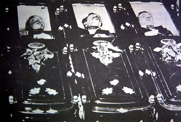 Tom McLaury, Frank McLaury and Billy Clanton (...