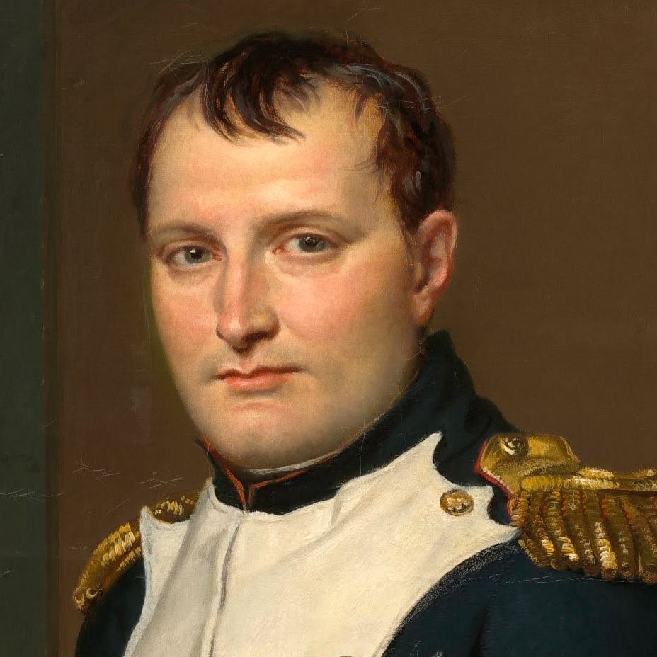 The future French emperor Napoleon Bonaparte w...