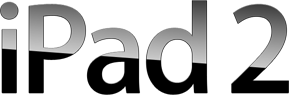 English: iPad 2 wordmark, by Apple Inc.