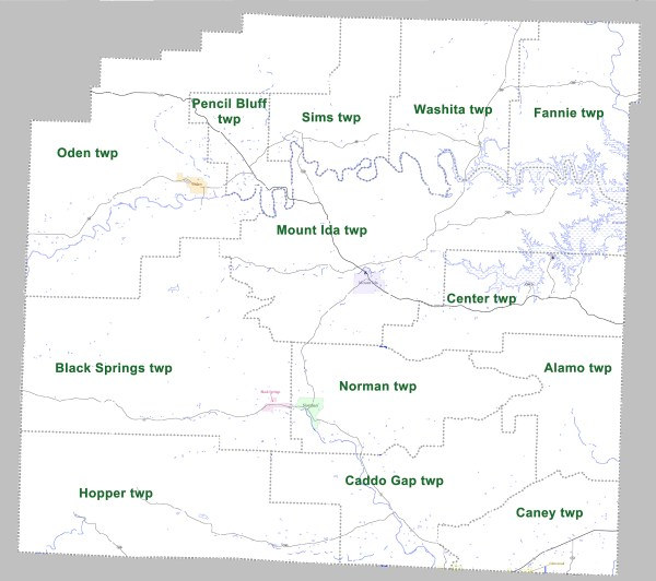 Montgomery County Arkansas Township Map