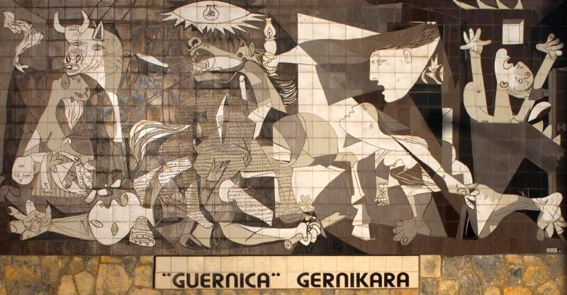 Mural of the painting