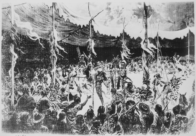 Sioux sun dance, 1874 - NARA - 530871