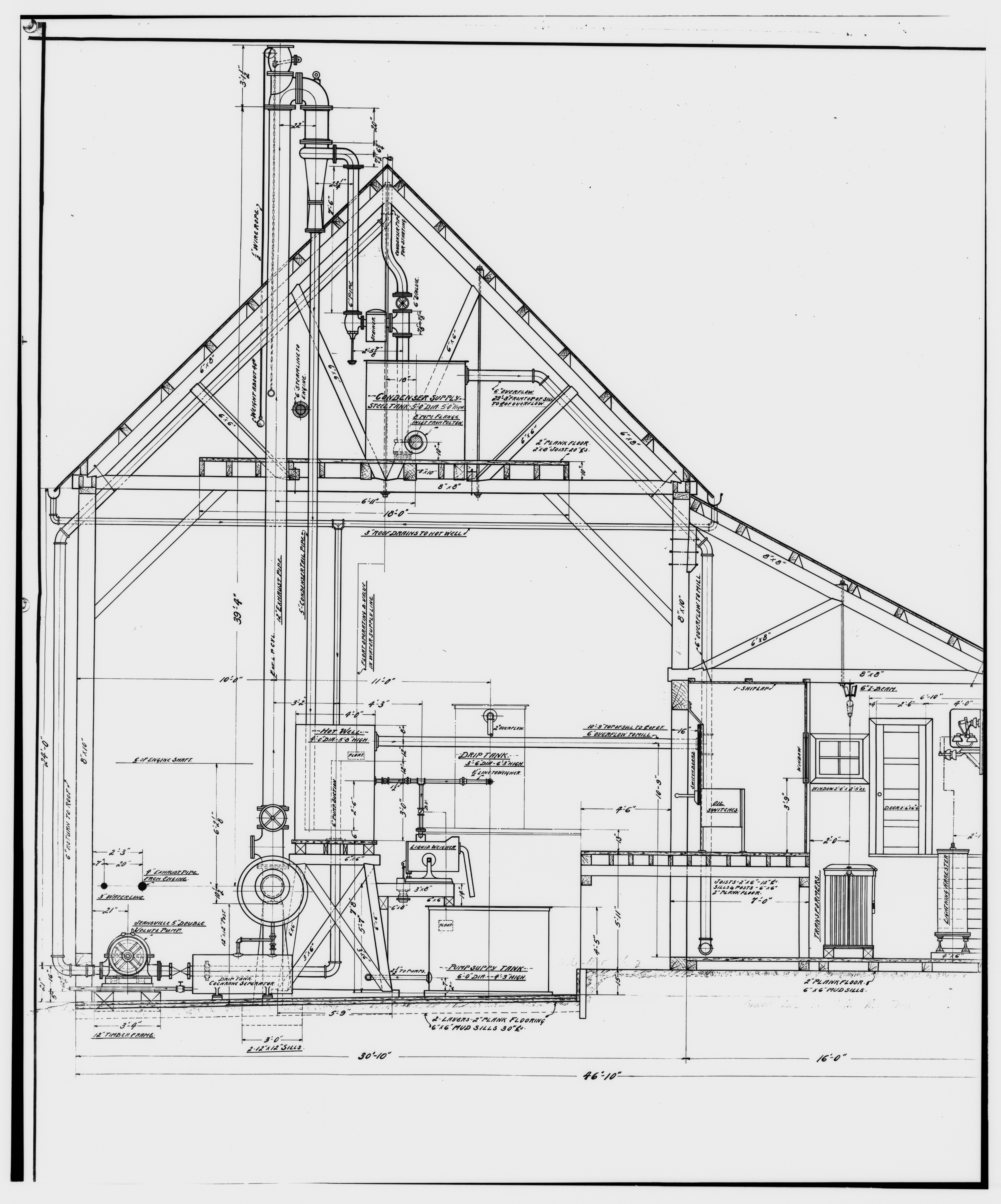 File:36. PHOTOCOPY OF DRAWING OF POWER PLANT, SECTION, OCT