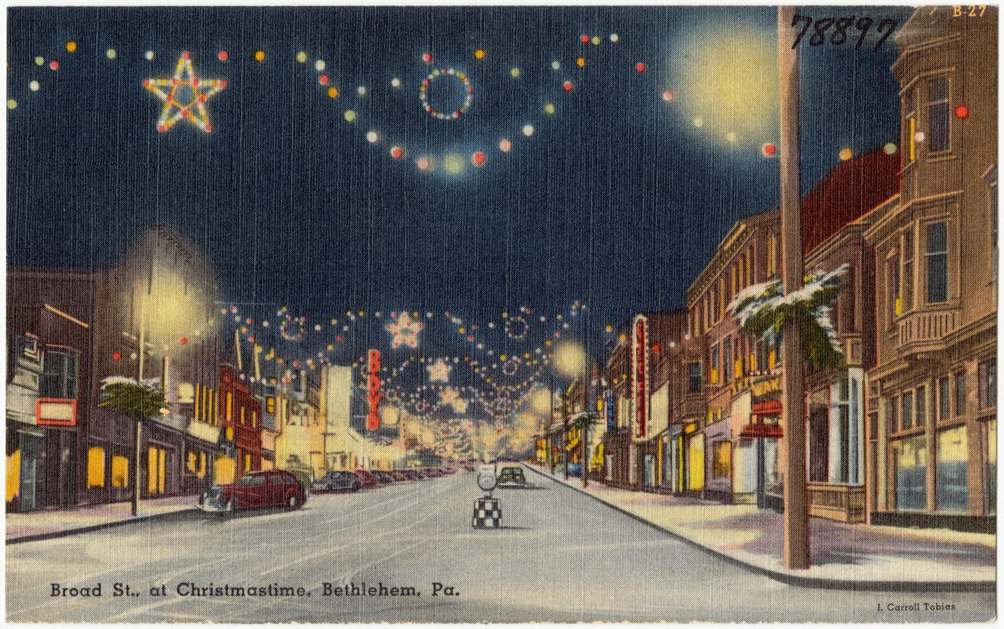 FileBroad St At Christmastime Bethlehem Pa 78897