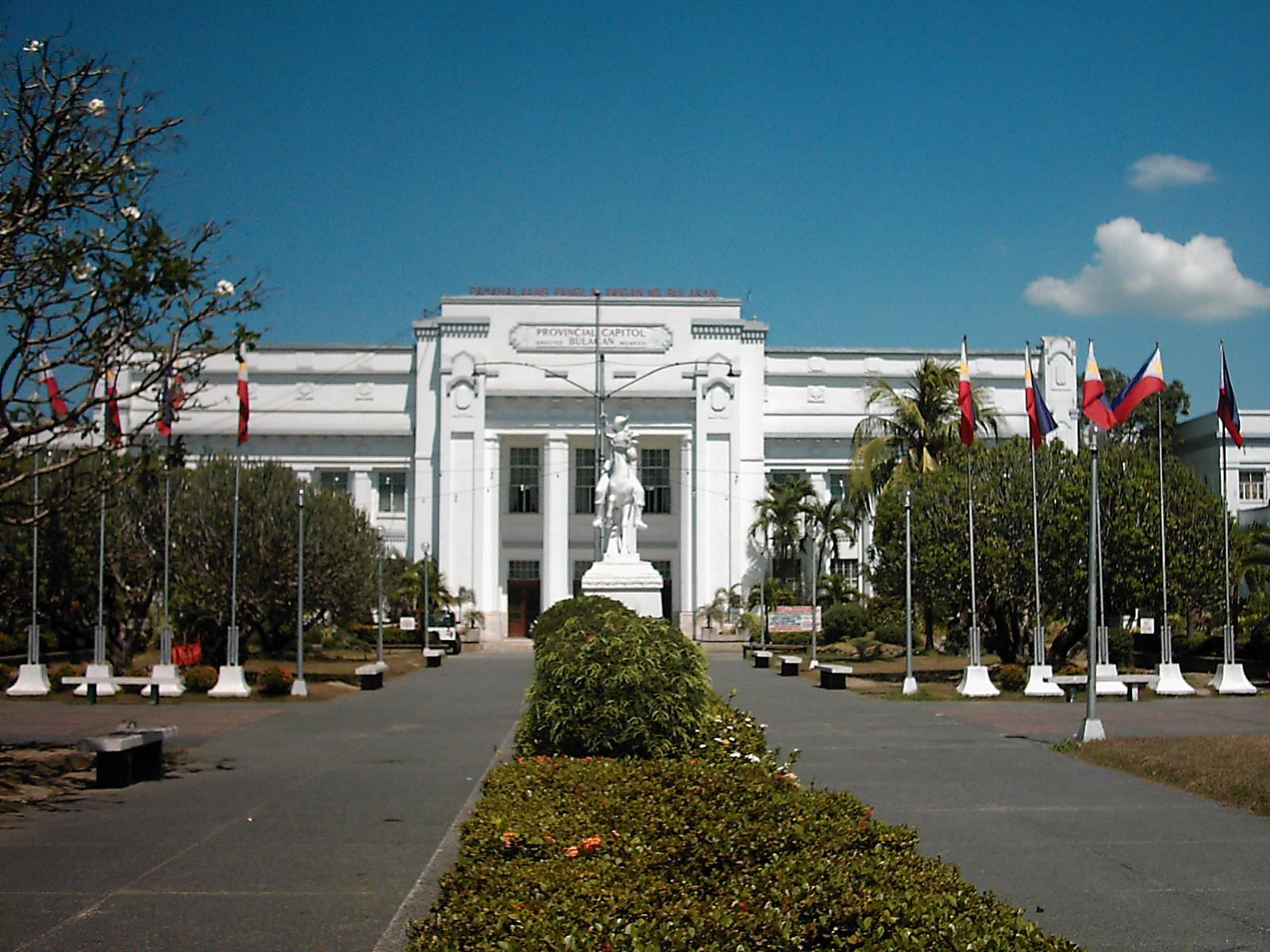 Bulacan provincial capitol building in Malolos...