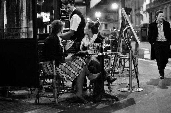 Paris Cafe at Night Women