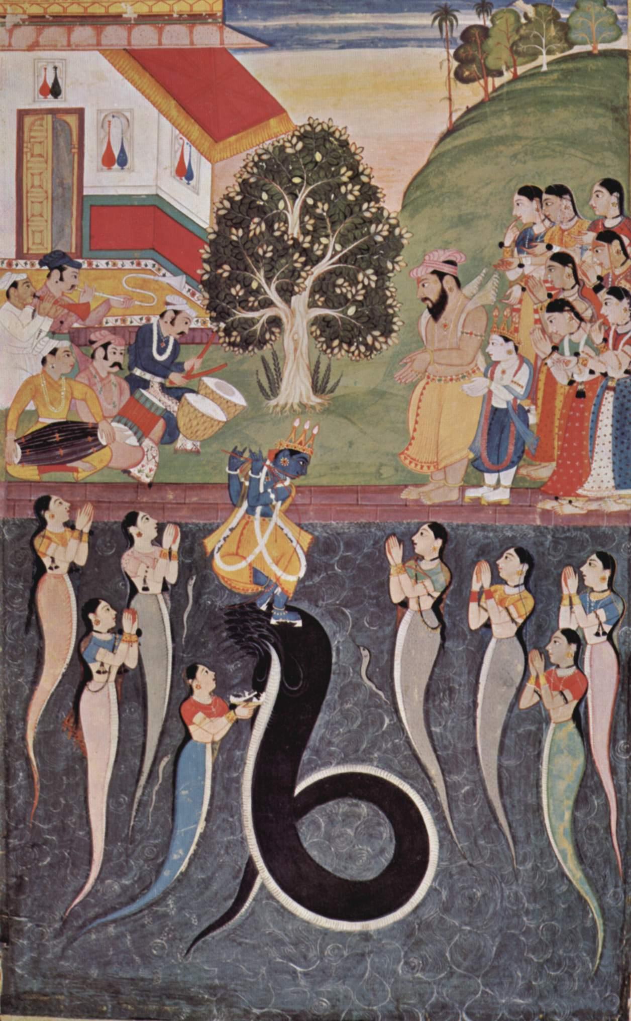 Krishna subdues Kaliya