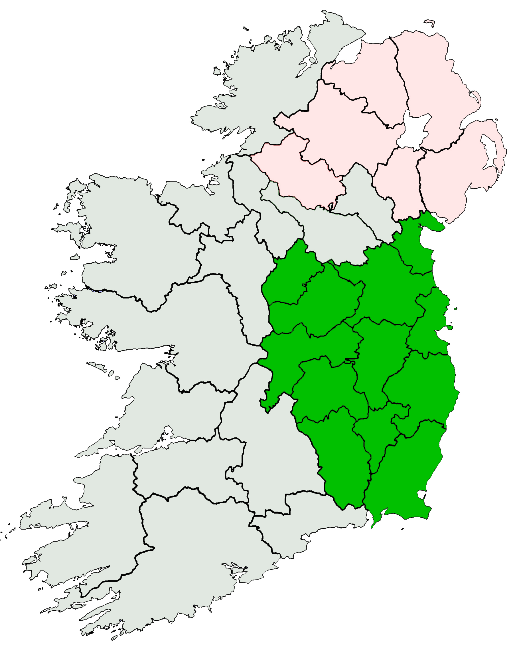 Blank Map Of Ireland With Mountains