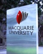 English: Macquarie University sign
