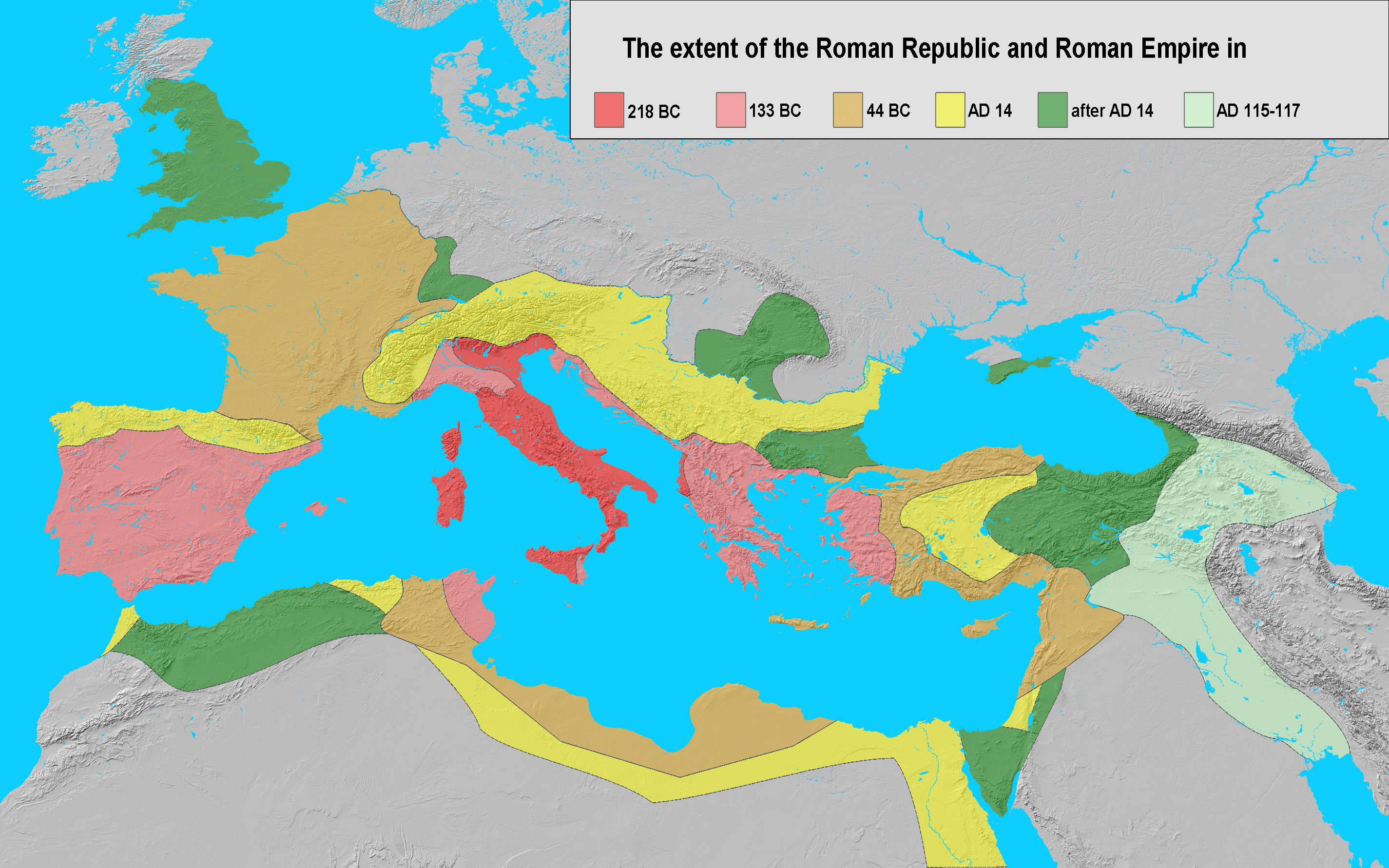 An Incredibly Detailed Map Of The Roman Empire At Its
