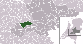 Locator map of Dutch municipalities in Gelderl...