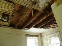 File:Demolition project opening up the ceiling plaster and ...