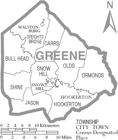 File:Map of Greene County North Carolina With Municipal