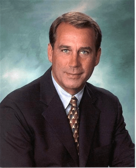 House Minority Leader John Boehner (R)