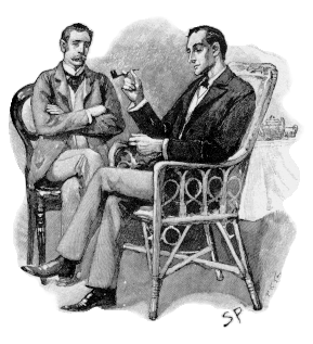 English: Sherlock Holmes (r) and Dr. John B. W...