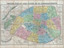 File 1881 Lefevre Pocket Map Plan Of Paris France
