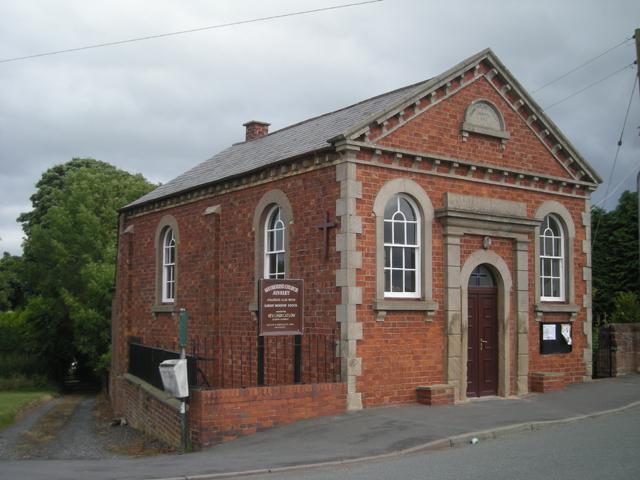 Alveley Methodist Church, Church Road, Alveley, Shropshire, seen from the west.