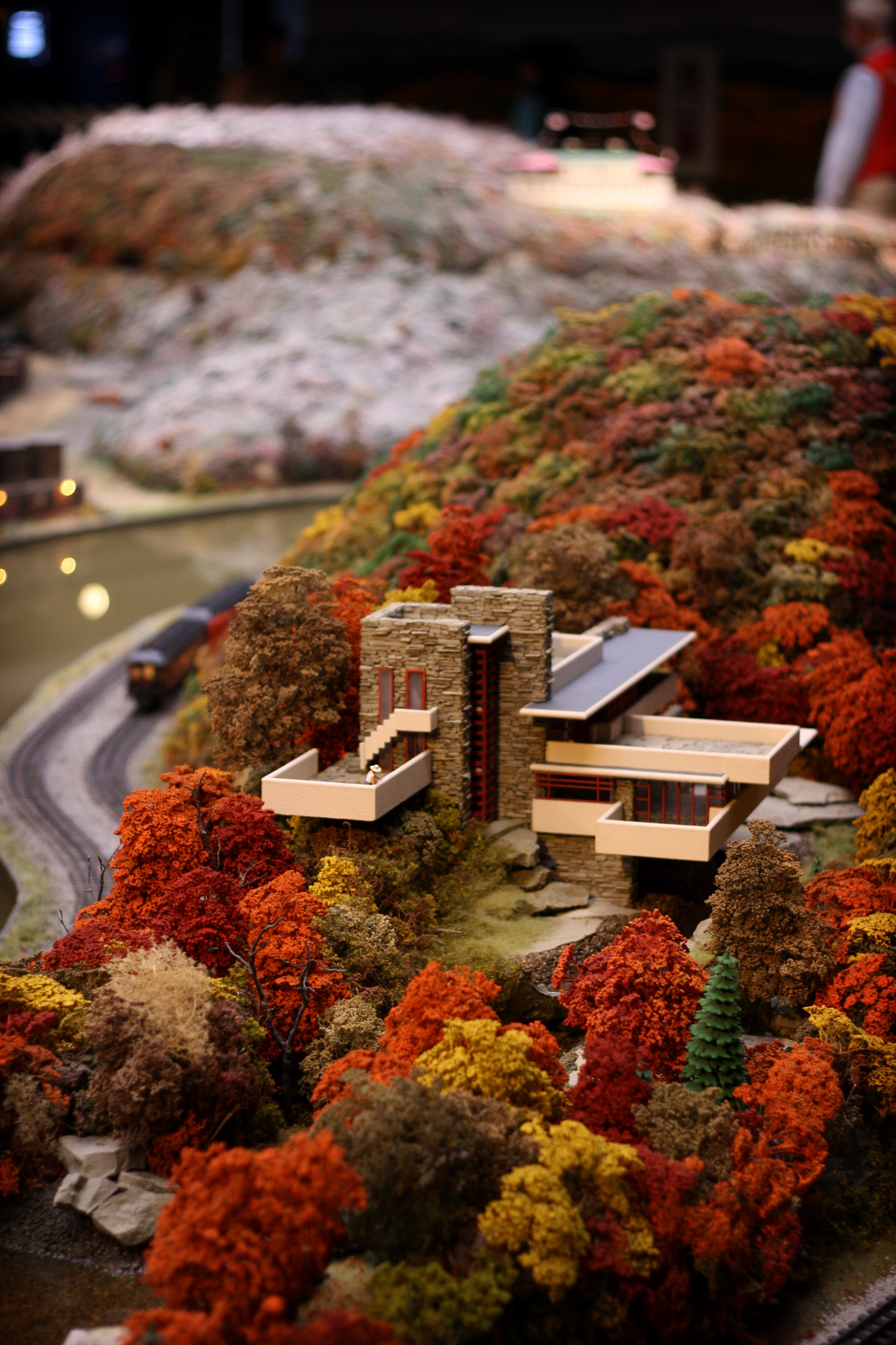 Falling Water House Wallpaper File Model Train Layout Detail At The Carnegie Science