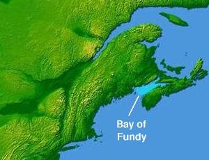 English: Bay of Fundy © 2004 Matthew Trump bas...