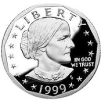 English: This is a Susan B. Anthony US Dollar ...