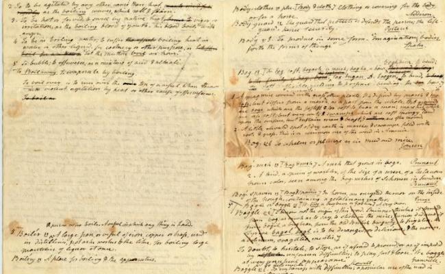 קובץ Handwritten Drafts Of Dictionary Entries Noah Webster
