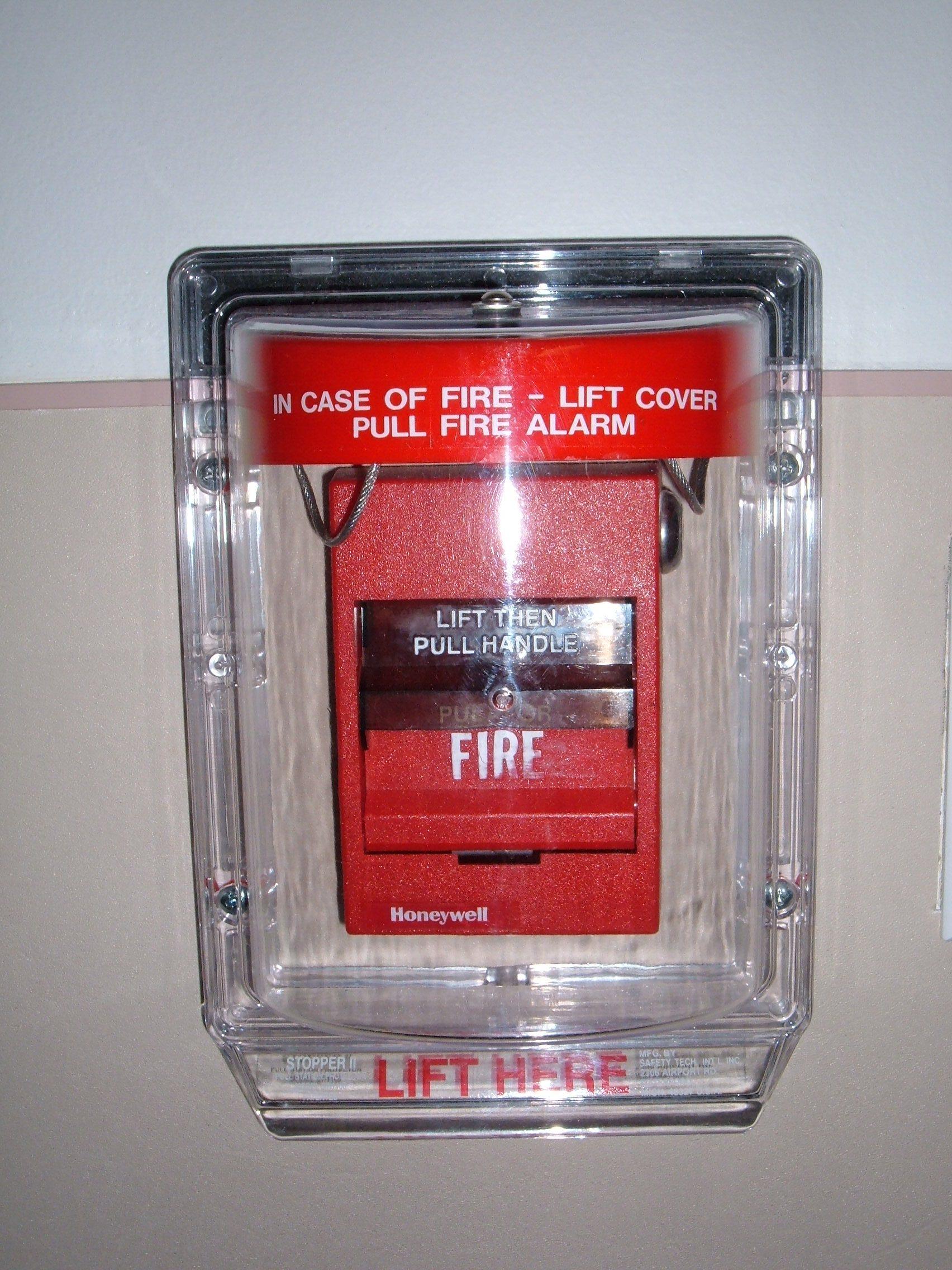 hight resolution of file honeywell fire alarm with plastic shield jpg