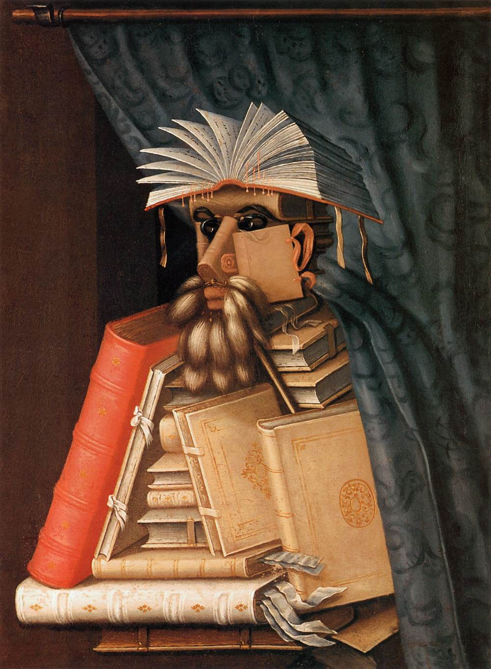 The Librarian by Guiseppe Arcimboldo