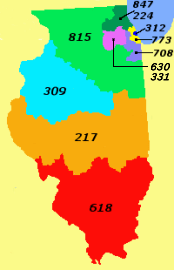 708 Area Code Map : Wikiwand