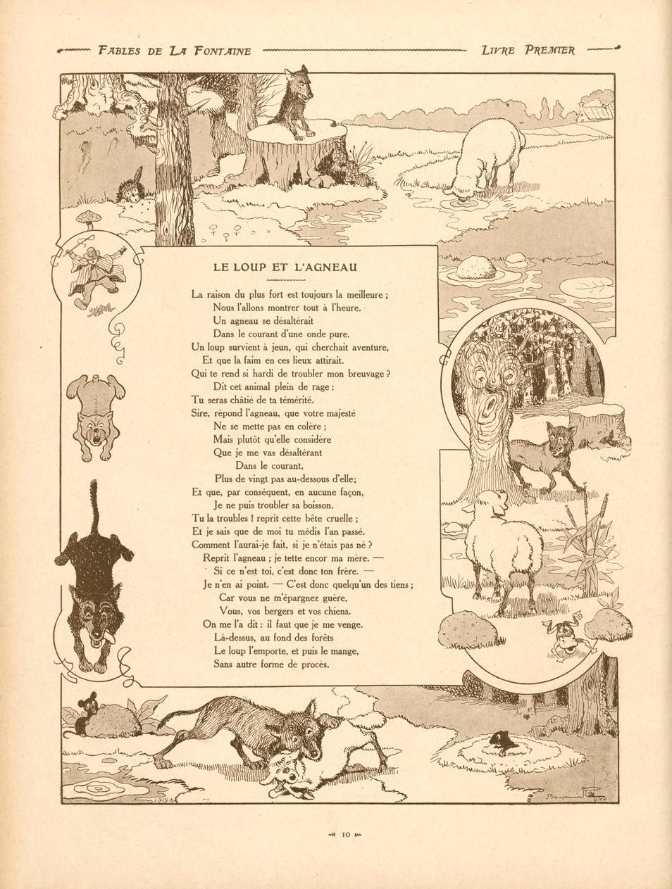 Le Loup Et L'agneau La Fontaine : l'agneau, fontaine, File:Fables-22-loup&agneau.jpg, Wikimedia, Commons