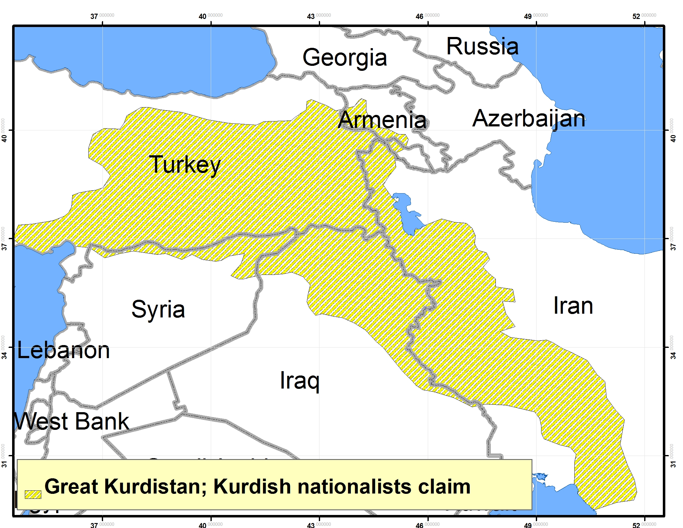 Great Kurdistan; Kurdish nationalists claim