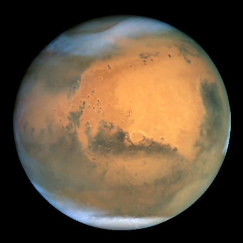 Mars photo by NASA and the European Space Agency