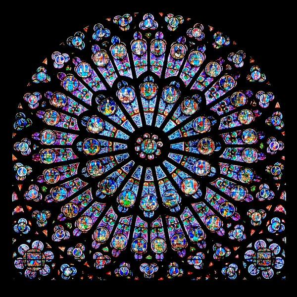 Notre Dame De Paris Stained Glass Windows