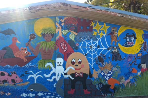 File Mural Painted Classroom Wall Niue Primary