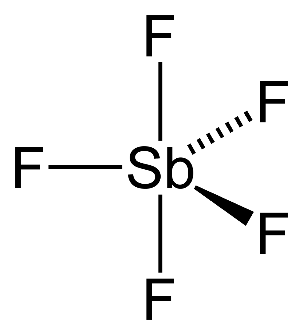 medium resolution of antimony pentafluoride