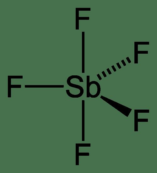small resolution of antimony pentafluoride
