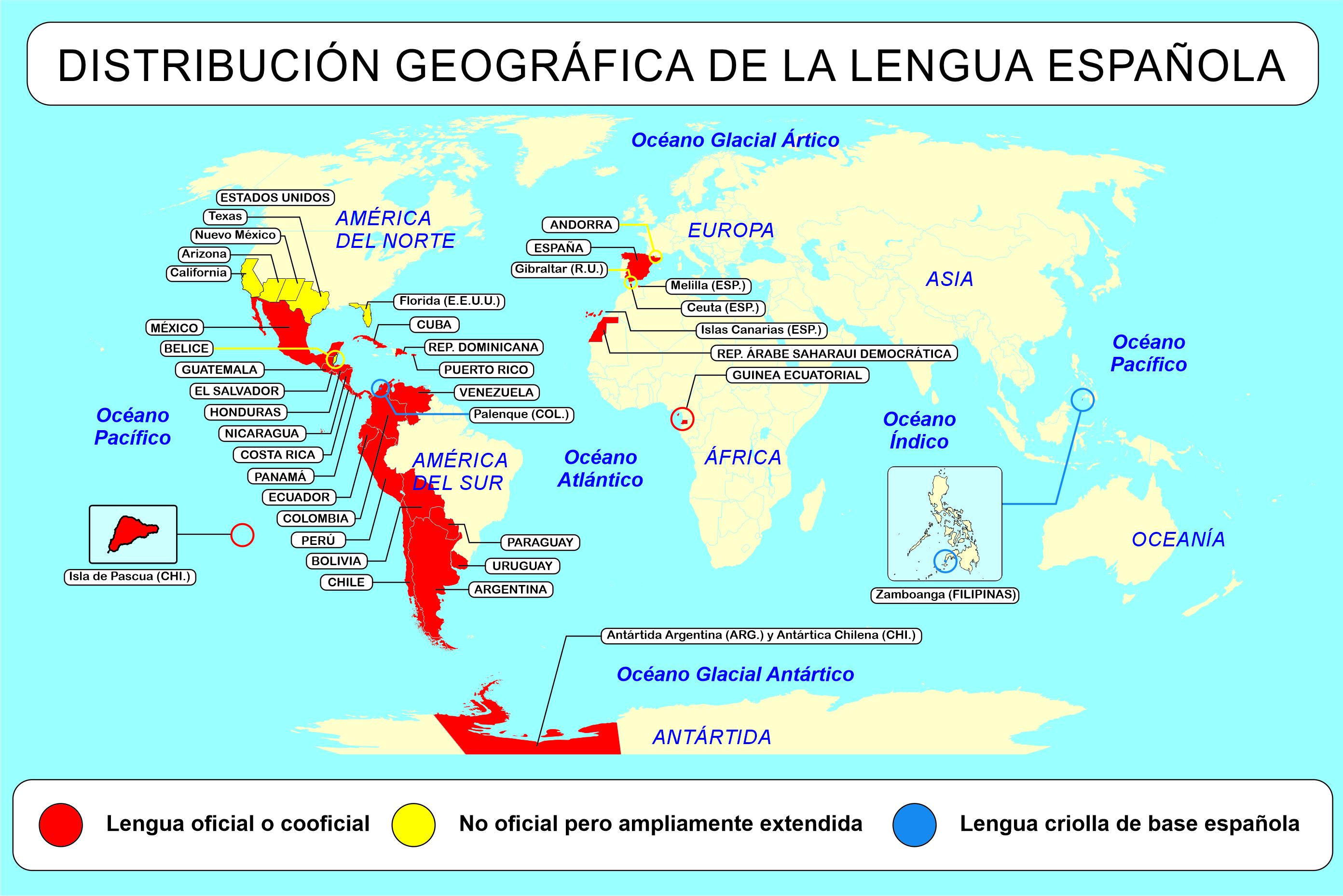 Vocabulario Espanol Paises Y Nacionalidades Con Ejercicios